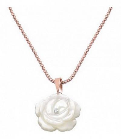 Collar rosé + rosa nácar circonita - LP1225-1/3