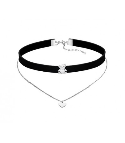 CHOKER DOBLE LOTUS SILVER - LP1674-1/1