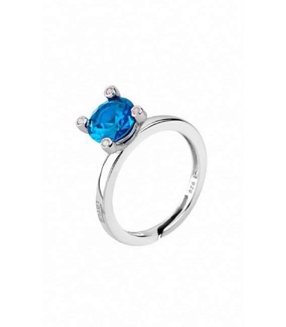 ANILLO PIEDRA AZUL LOTUS SILVER TOGETHER - LP1710-3/5
