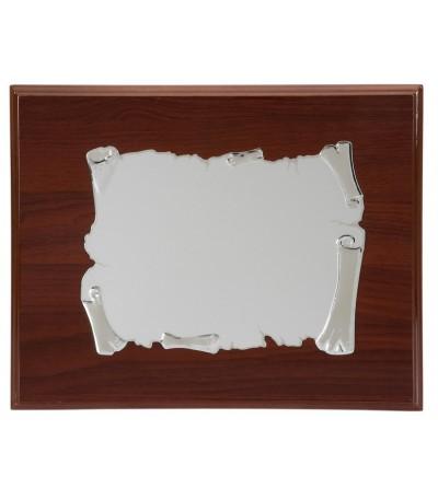 Placa aluminio pergamino - P-1677