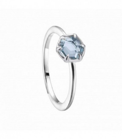 ANILLO PLATA HEX. MINI TOPACIO AZUL - 00505937