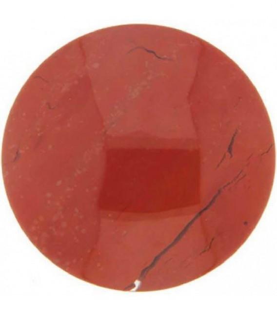 Insignia 33 mm. Jaspe Rojo Piedra natura - 33-0115