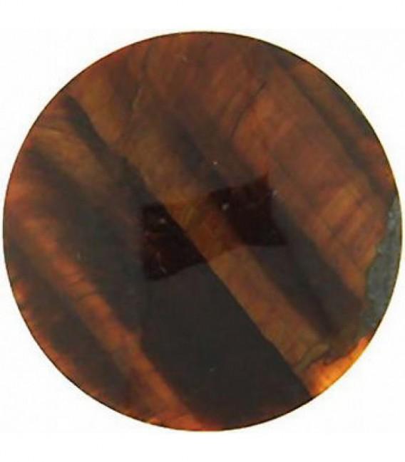 Insignia 33 mm. Ojo de Tigre Rojo Piedra - 33-0096