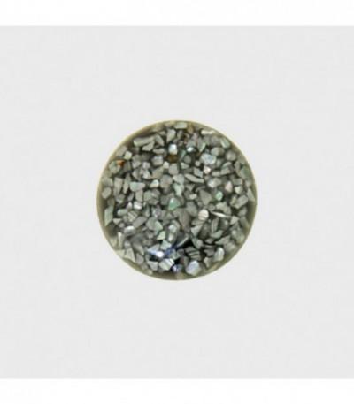 Insignia 24 mm Gris-Resina Concha Recons - 24-1035