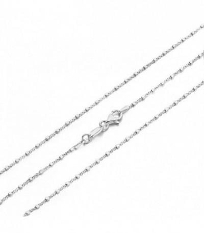 Cadena CUBETTO 45cm rodiada - 27-0012-45