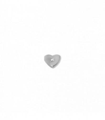 Dancer corazón circonita rodio - 28-0057