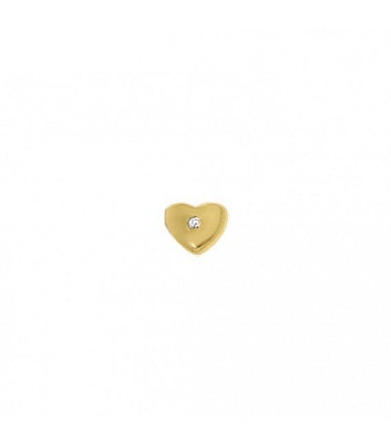 Dancer corazón circonita dorado - 28-0058