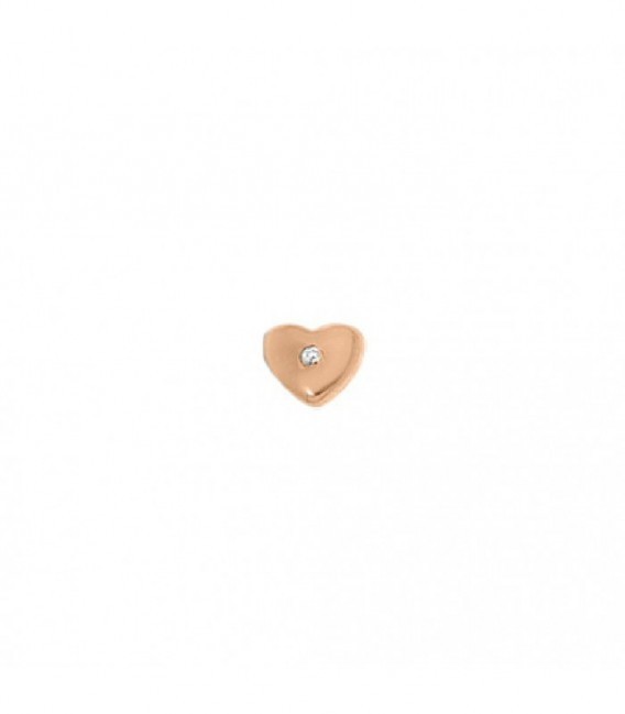 Dancer corazón circonita rosé - 28-0059