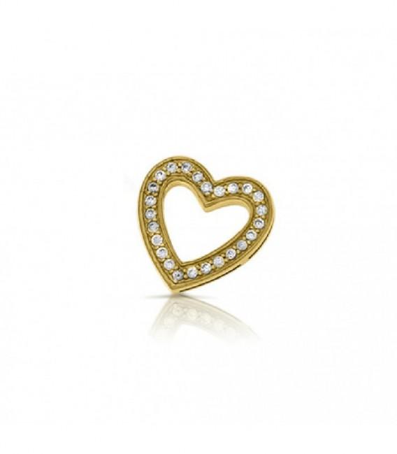 Dancer corazón dorado zirkon - 28-0075