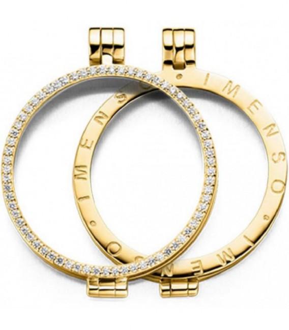 Medallón dorado circonitas 33mm - 33-0071