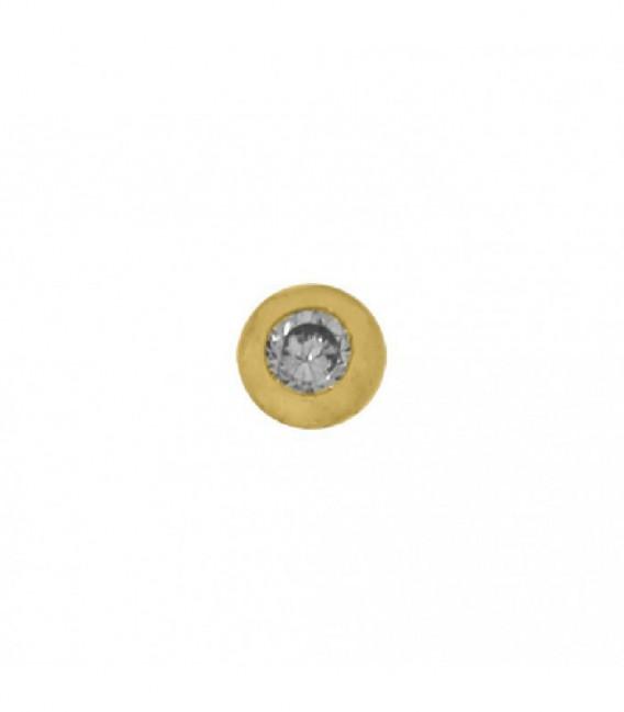 Dancer dorado circonita 2.5mm - 28-0105