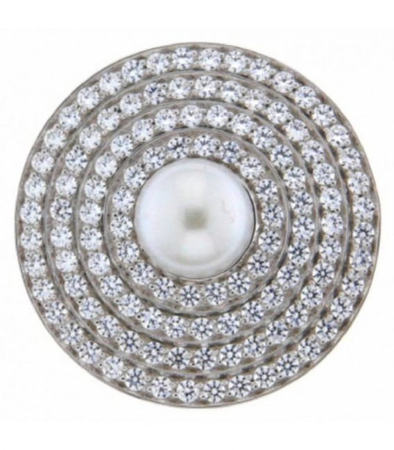 Insignia 33mm Spherique perla y zirkons - 33-0566