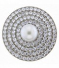 Insignia 33mm Spherique perla y zirkons - 33-0566