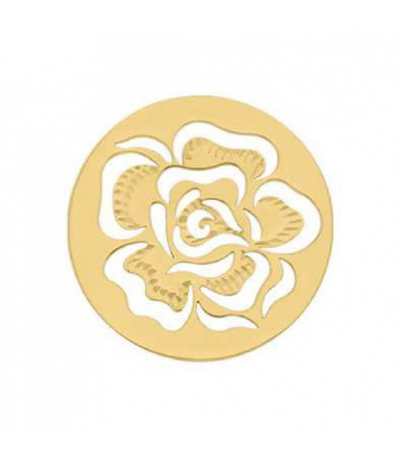 Insignia 33 mm Cub.plana rosa Dorado - 33-0638