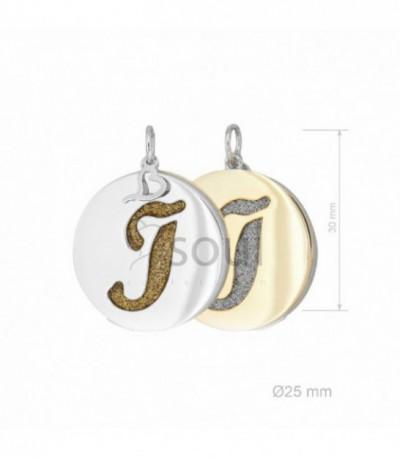 """INICIAL PLATA """"J"""" 2 COLORES - 371027"""