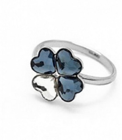 ANILLO TREBOL DENIM BLUE-RH - A3083-2A