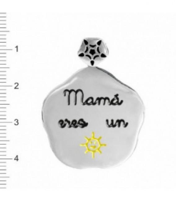 COLGANTE PLATA MAMÁ ERES UN SOL - K-00501-MA06