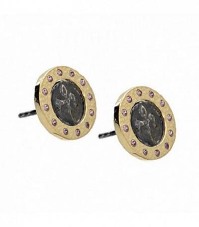 Pendiente Moneda Flor de Lys zirkon lila - 00503887