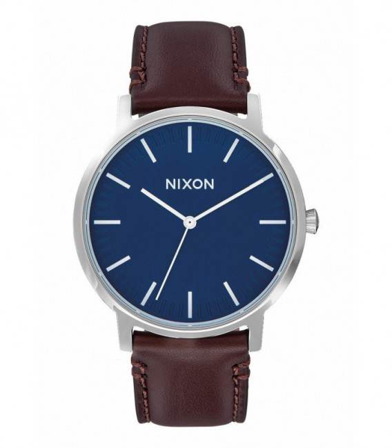 RELOJ PORTER LEATHER NAVY / BROWN NIXON - A1058879