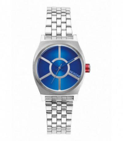 RELOJ SMALL TIME TELLER STAR WARS / R2D2 BLUE NIXON - A399SW2403