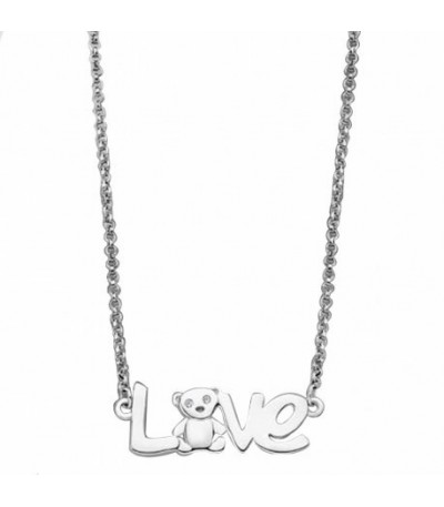 COLLAR LOVE TEDDY LOTUS SILVER - LP1661-1/1