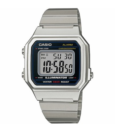RELOJ DIGITAL PLATEADO CASIO RETRO - 12545