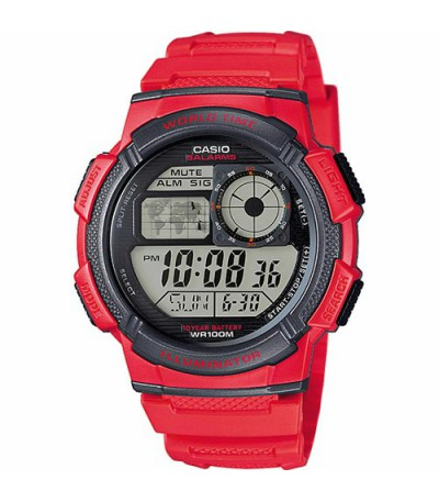 RELOJ DIGITAL ROJO CASIO AE-1000W-4A - 10492