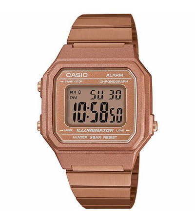 RELOJ DIGITAL ROSÉ CASIO RETRO - 12525