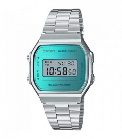 RELOJ UNISEX RETRO MIRROR AZUL DIGITAL CASIO - A168WEM-2EF