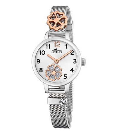 RELOJ JUNIOR ACERO FLOWER LOTUS - 18659/3