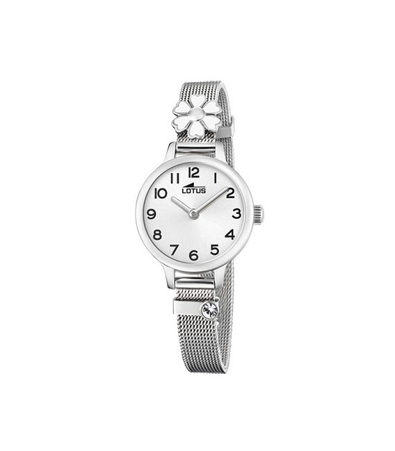 RELOJ JUNIOR ACERO FLOR LOTUS - 18661/1