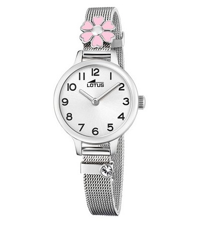 RELOJ JUNIOR ACERO FLOR LOTUS - 18661/2