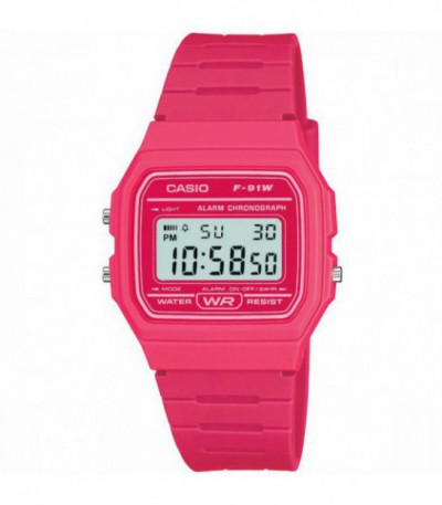 RELOJ FUCSIA F-91WC CASIO COLLECTION - 12901