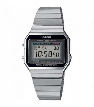 RELOJ RETRO DIGITAL PLATEADO CASIO - 14242
