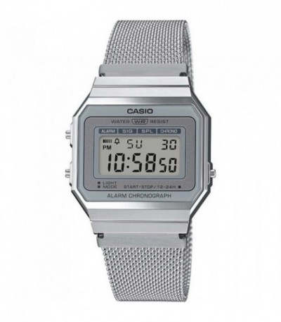 RELOJ RETRO DIGITAL PLATEADO CASIO - 14243