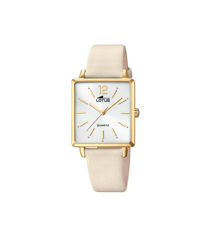 Cuadrado Dorado Lotus 187131 Reloj Señora H2WYDE9I