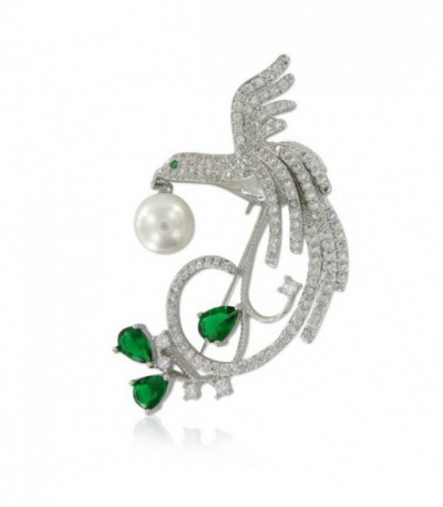 BROCHE ESTORNINO PLATEADO - 98-B18CT377