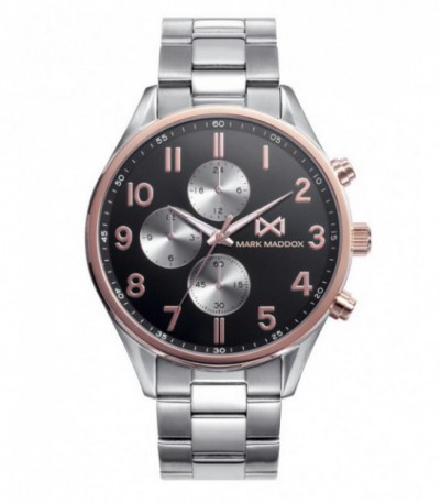 RELOJ ACERO VILLAGE MARK MADDOX - HM0106-55