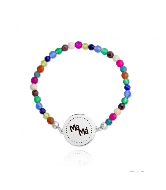 Pulsera elástica multicolor MAMA