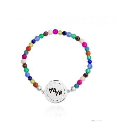 Pulsera elástica MAMA multicolor