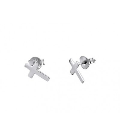 PENDIENTES TRENDY CRUZ LISA LOTUS SILVER - LP1223-4/2