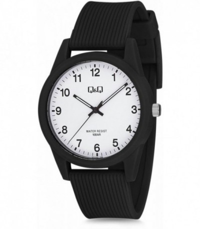 RELOJ CABALLERO NEGRO Q&Q by CITIZEN - VS12J001