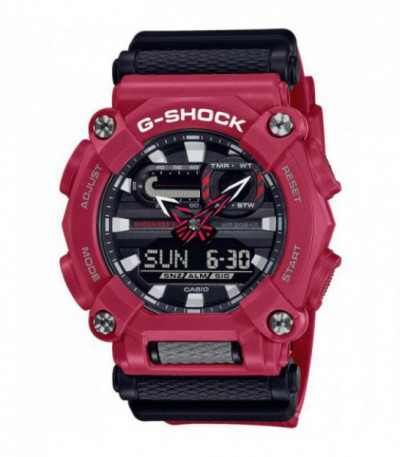 RELOJ ROJO CASIO G-SHOCK HEAVY DUTY - GA-900-4AER