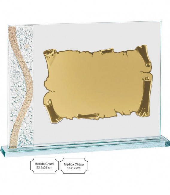 Placa Cristal Murano con Estuche - PLACA DE 16x12cm - 12745-E