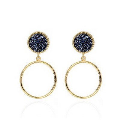 PENDIENTES CHISS DENIM BLUE ORO - A3573-18DT