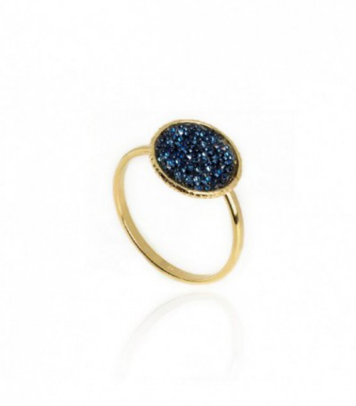 ANILLO CHISS DENIM BLUE - ORO - A3578-18DA