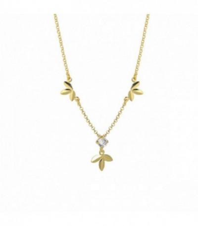 Collar Camellia Crystal Dorado - A3854-63DG