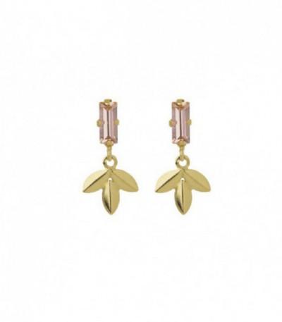 Pendientes Camellia Crystal Dorado - A3851-63DT