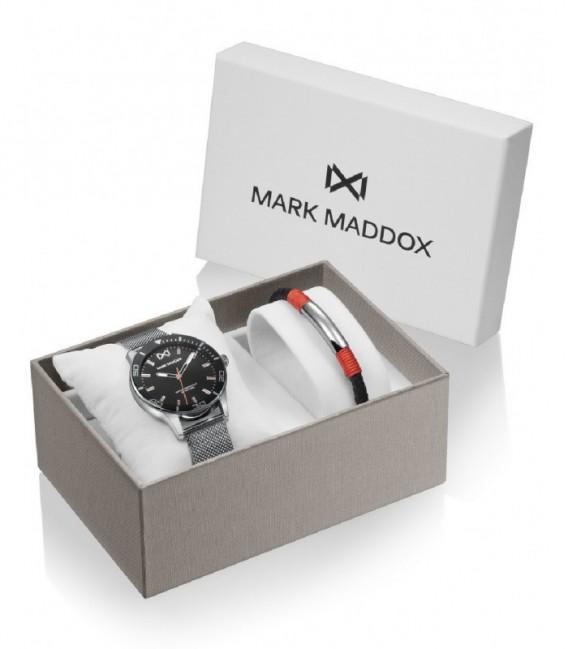 PACK RELOJ ACERO + BRAZALETE MISSION MARK MADDOX - HM7146-57