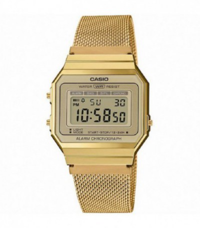 RELOJ RETRO DIGITAL DORADO CASIO - 14245